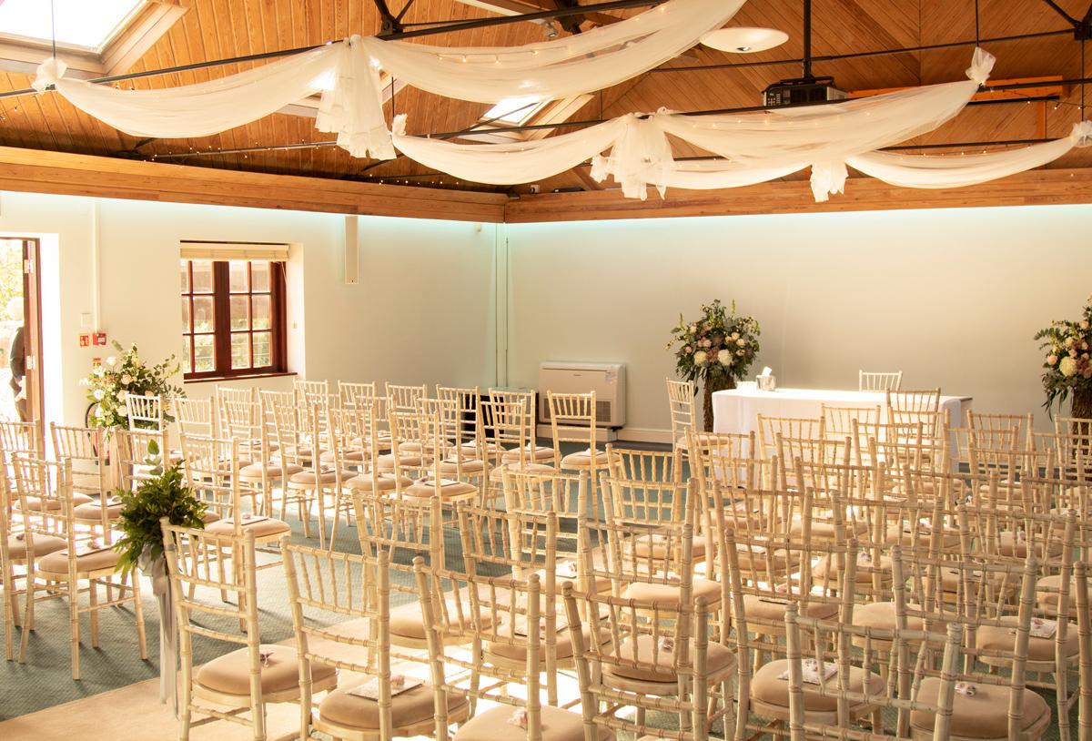 Wedding set up in Walton Suite