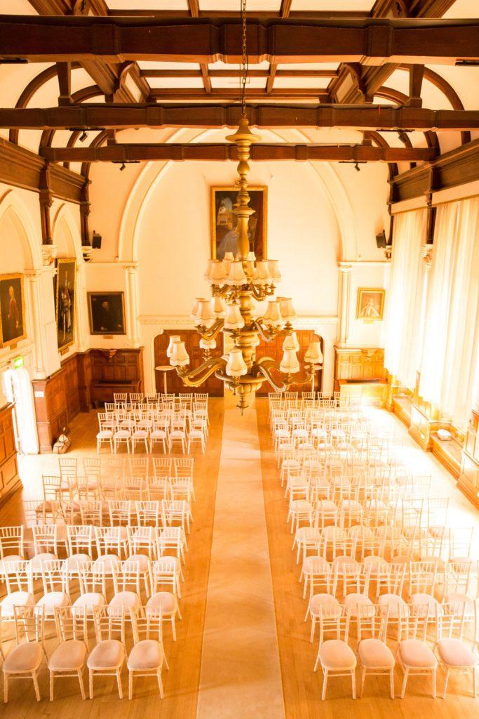 King Charles Hall sunny ceremony