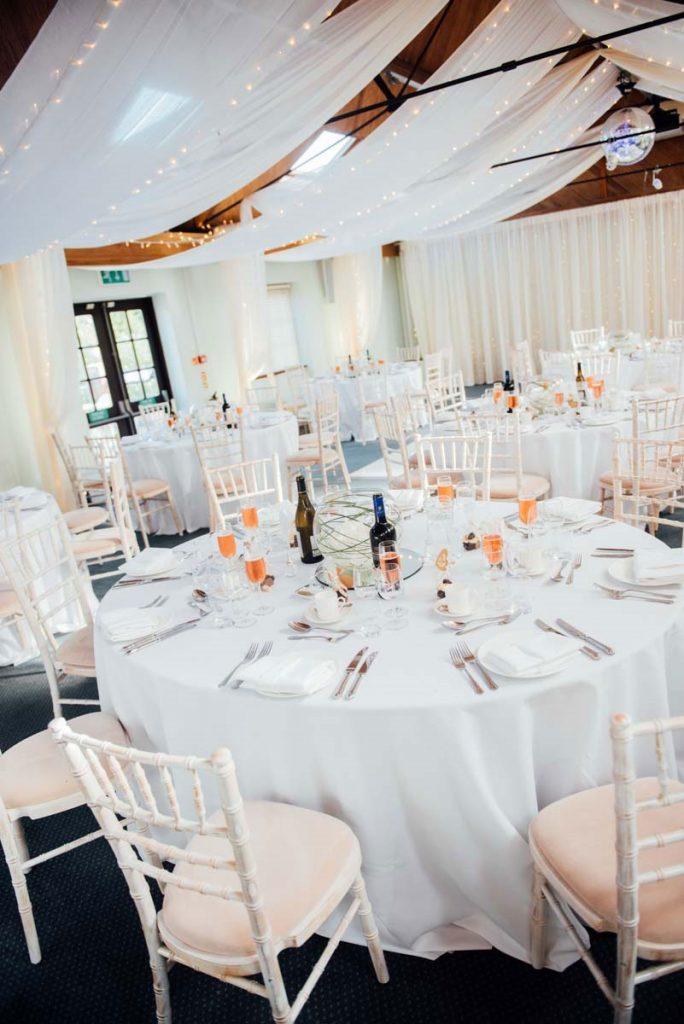 Wedding breakfast in Walton Suite